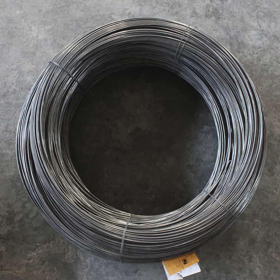 alambre bajo carbón para malla tejida
